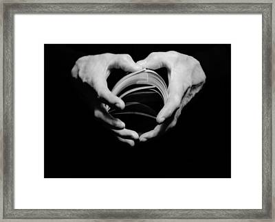 Heart In Hand Framed Print by Cathy Donohoue