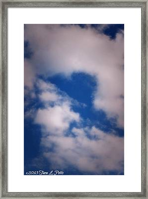 Framed Print featuring the photograph Heart In The Clouds by Tara Potts
