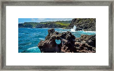 Heart In The Rock Framed Print by Cameron Howard