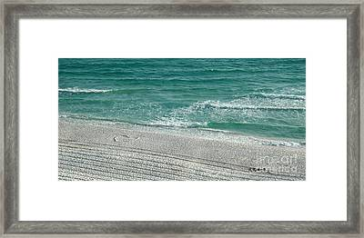 Heart In The Sand Framed Print by Roe Rader