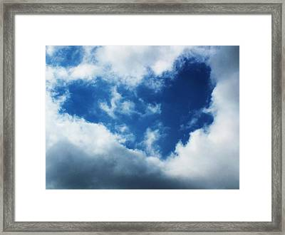 Heart In The Sky Framed Print
