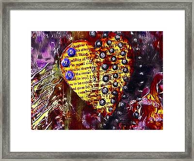 Heart In Yellow Framed Print by Bellesouth Studio
