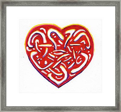 Heart Intertwined Framed Print