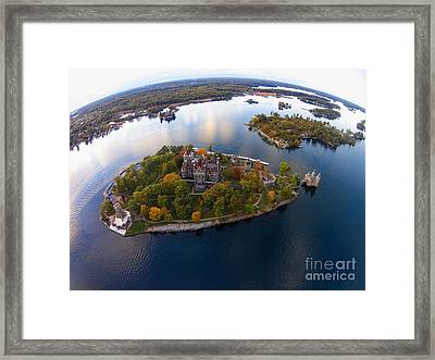 Heart Island George Boldt Castle Framed Print by Tony Cooper