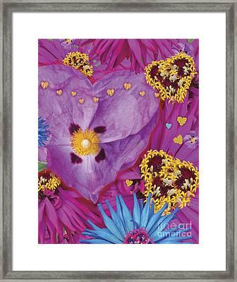 Heart Juxtaposition Framed Print