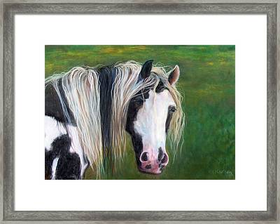 Framed Print featuring the painting Heart by Karen Kennedy Chatham