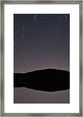Heart Lake Under The Stars Framed Print