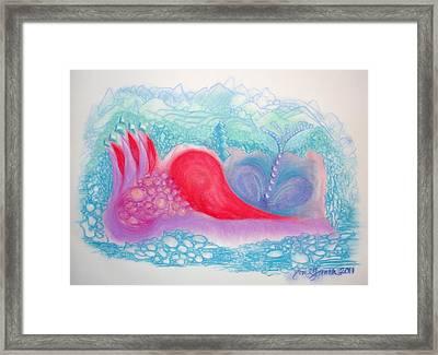 Heart Land Framed Print by Mademoiselle Francais