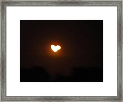 Heart Lightning Framed Print by Cim Paddock