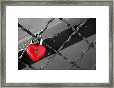 Heart Lock Framed Print