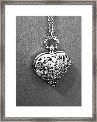 Framed Print featuring the photograph Heart Locket  by Alohi Fujimoto