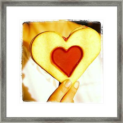 Heart Love Cookie Framed Print