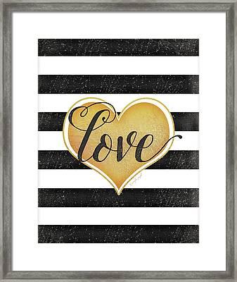 Heart Love Framed Print by Jennifer Pugh