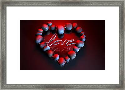 Heart Love Stones Framed Print by Allan Swart
