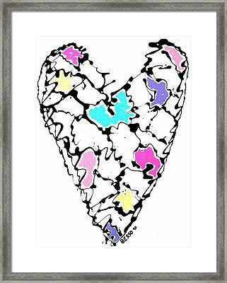 Heart Map Framed Print
