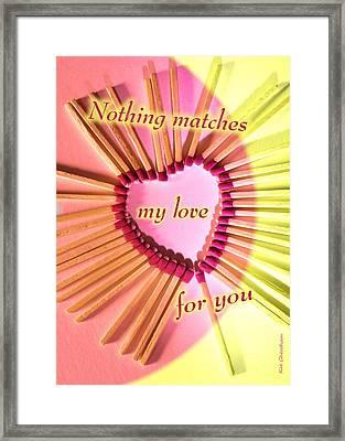 Heart Matches Framed Print