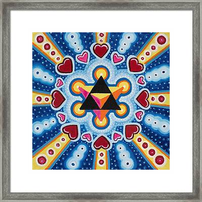 Heart Merkaba Framed Print by Christopher Sheehan