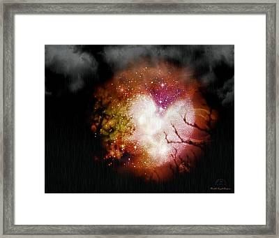 Heart Planet Framed Print
