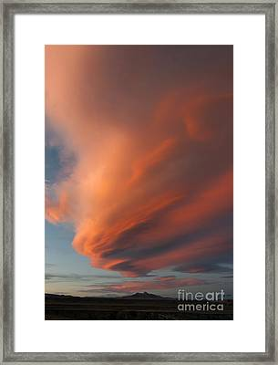 Heart Mountain Cirrus Sunset-signed Framed Print