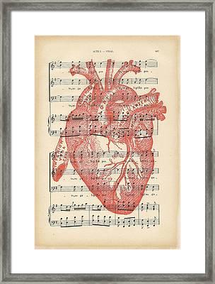 Heart Music Framed Print