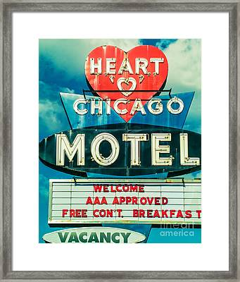 Heart 'o' Chicago Framed Print by Emily Kay
