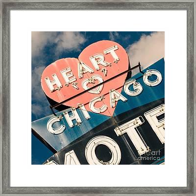 Heart 'o' Chicago Motel Framed Print by Emily Kay