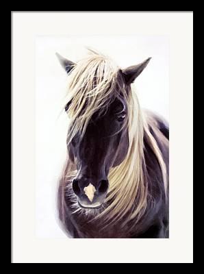 Horse Lover Pastels Framed Prints