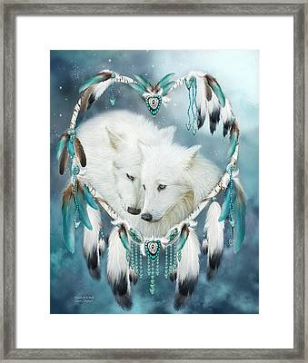 Heart Of A Wolf Framed Print by Carol Cavalaris