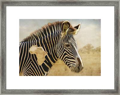 Framed Print featuring the digital art Heart Of Africa by Kathleen Holley