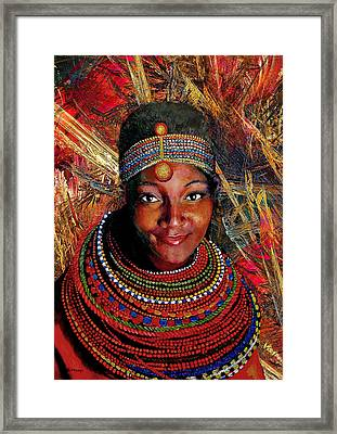 Heart Of Africa Framed Print by Michael Durst