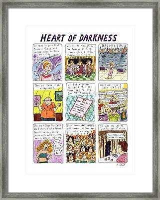 Heart Of Darkness Framed Print by Roz Chas