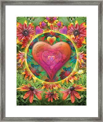 Heart Of Flowers Framed Print by Alixandra Mullins