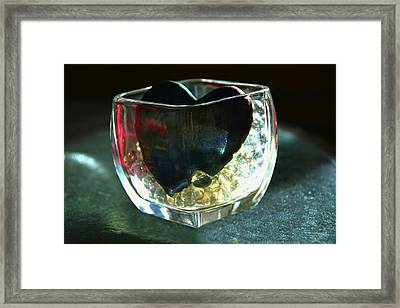 Heart Of Glass  #3  Framed Print by Renee Anderson