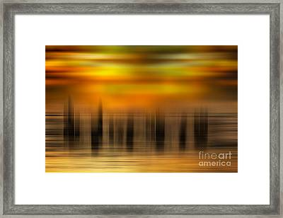 Heart Of Gold - A Tranquil Moments Landscape Framed Print by Dan Carmichael