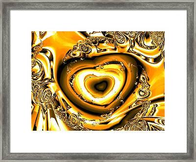 Heart Of Gold Framed Print by Anastasiya Malakhova
