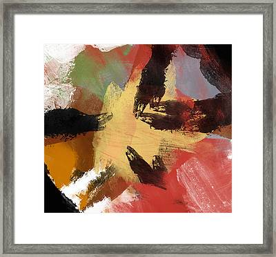 Heart Of Gold Framed Print by Condor