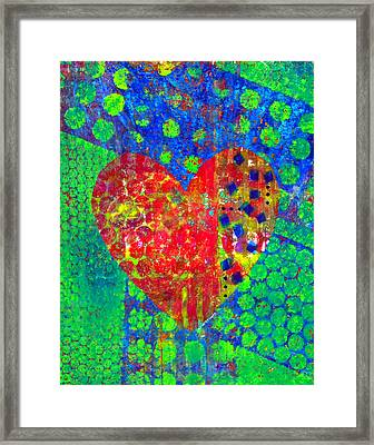 Heart Of Hearts Series - Cheers Framed Print by Moon Stumpp