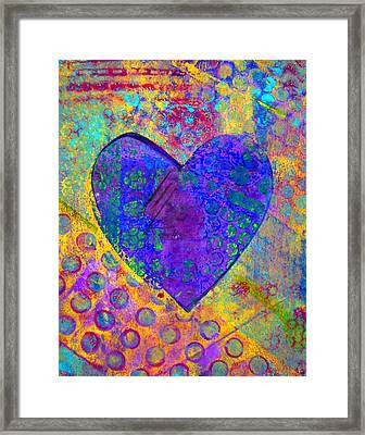 Heart Of Hearts Series - Compassion Framed Print by Moon Stumpp