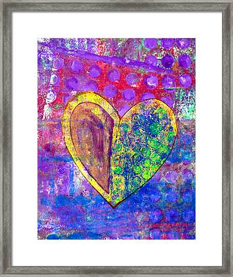 Heart Of Hearts Series - Discovery Framed Print by Moon Stumpp