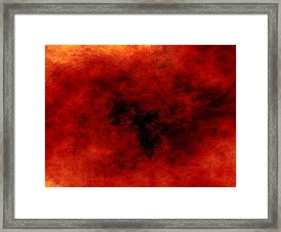 Heart Of Heat Framed Print by Jeff Iverson