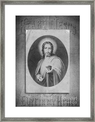 Heart Of Jesus Framed Print by Edward Fielding