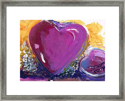Framed Print featuring the painting Heart Of Love by Bernadette Krupa