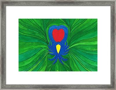 Heart Of Love.mexico Framed Print