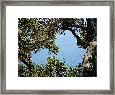 Heart Of Nepenthe - Big Sur Framed Print by Phoenix The Moody Artist