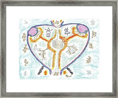 Heart Of Passion - Heart Of Fire Framed Print