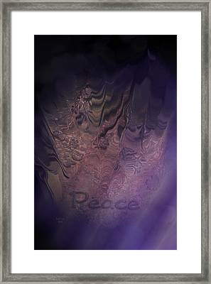Heart Of Peace Framed Print by Trish Tritz