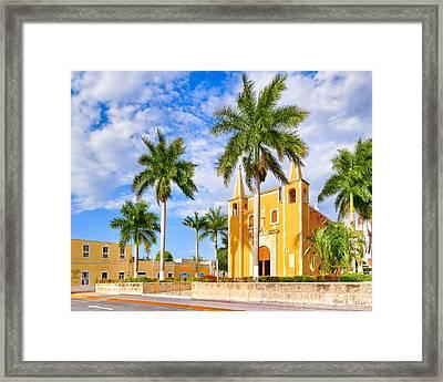 Heart Of Santa Ana Barrio - Merida Framed Print