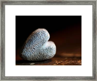 Heart Of Stone Framed Print by Aaron Aldrich