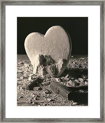 Heart Of Stone C1978 Framed Print