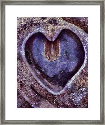 Heart Of Stone Framed Print by Gun Legler